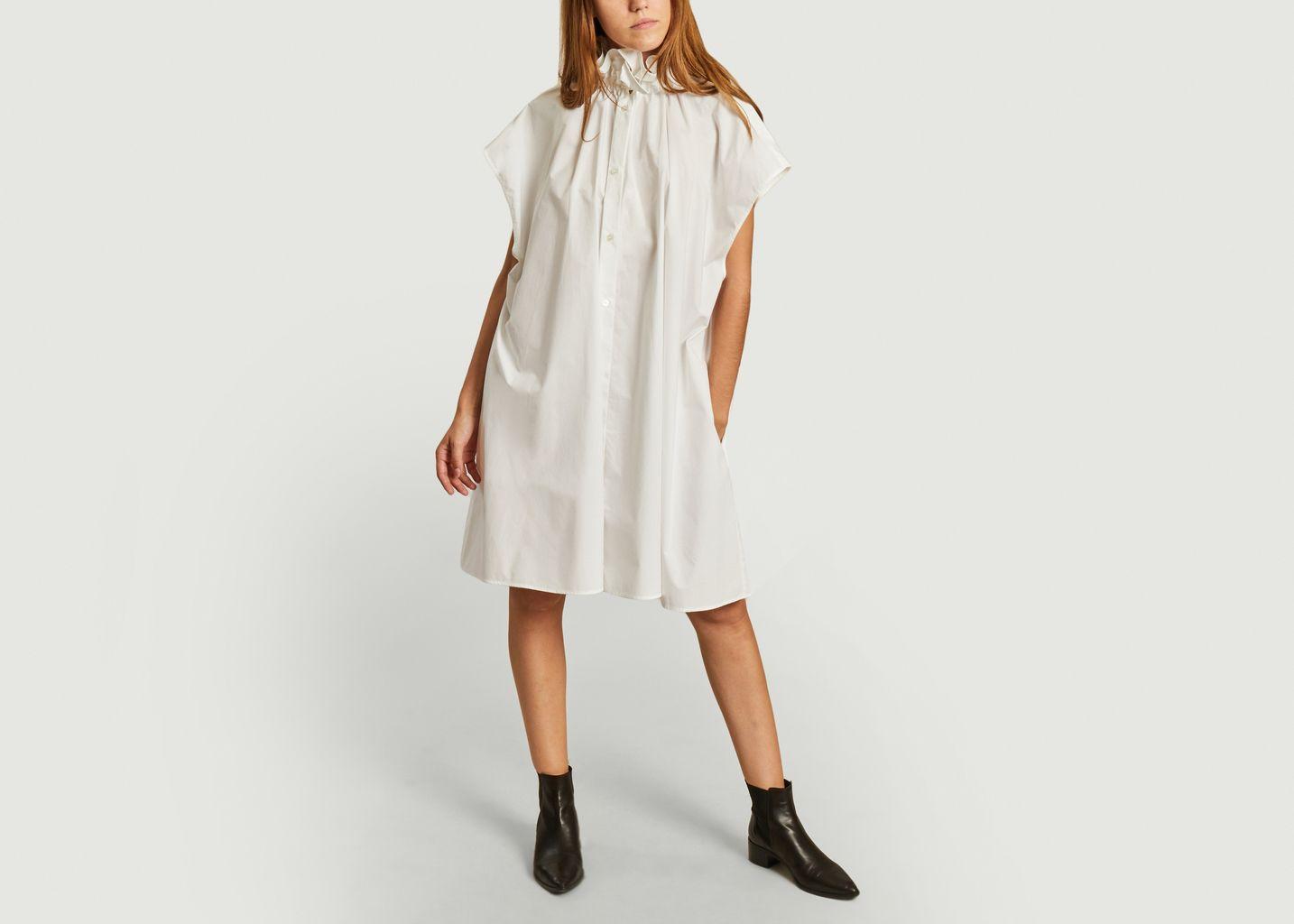 Robe cape boutonnée manches courtes - MM6 Maison Margiela