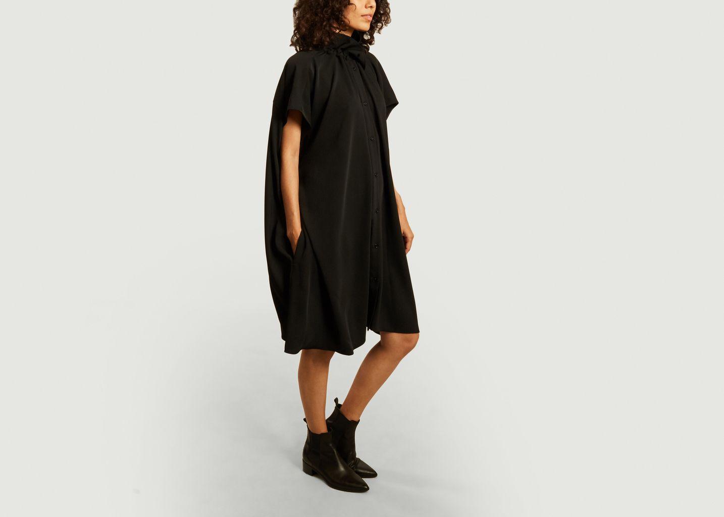 Buttoned short sleeves cape dress - MM6 Maison Margiela
