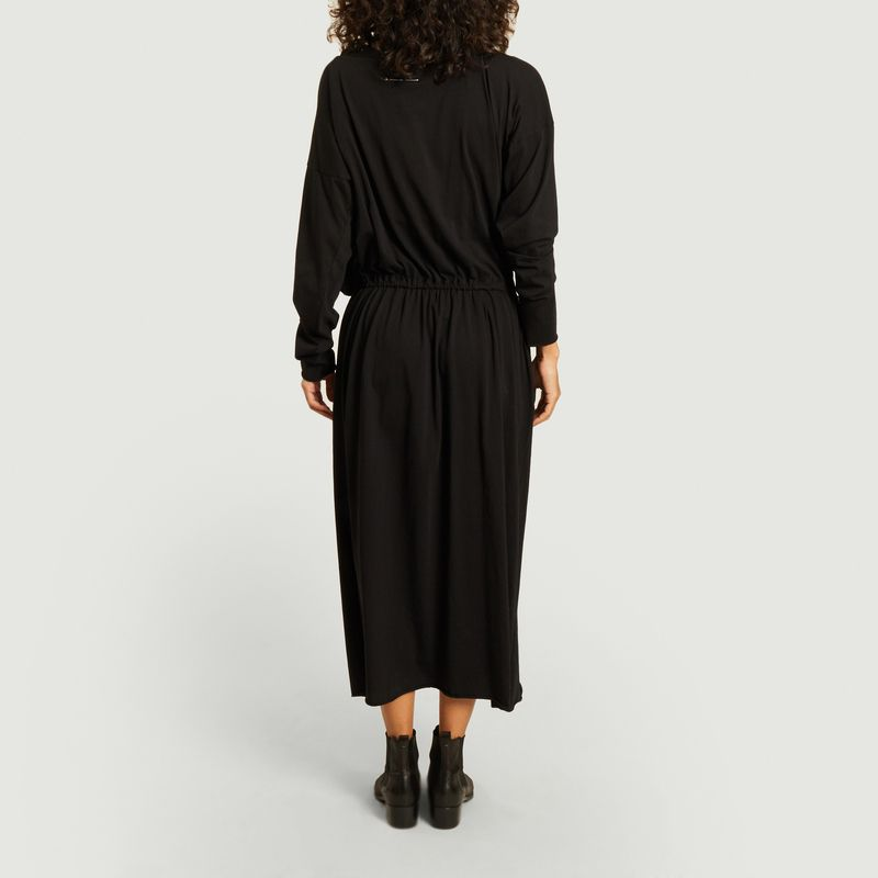 Long sleeves knotted collar long dress - MM6 Maison Margiela