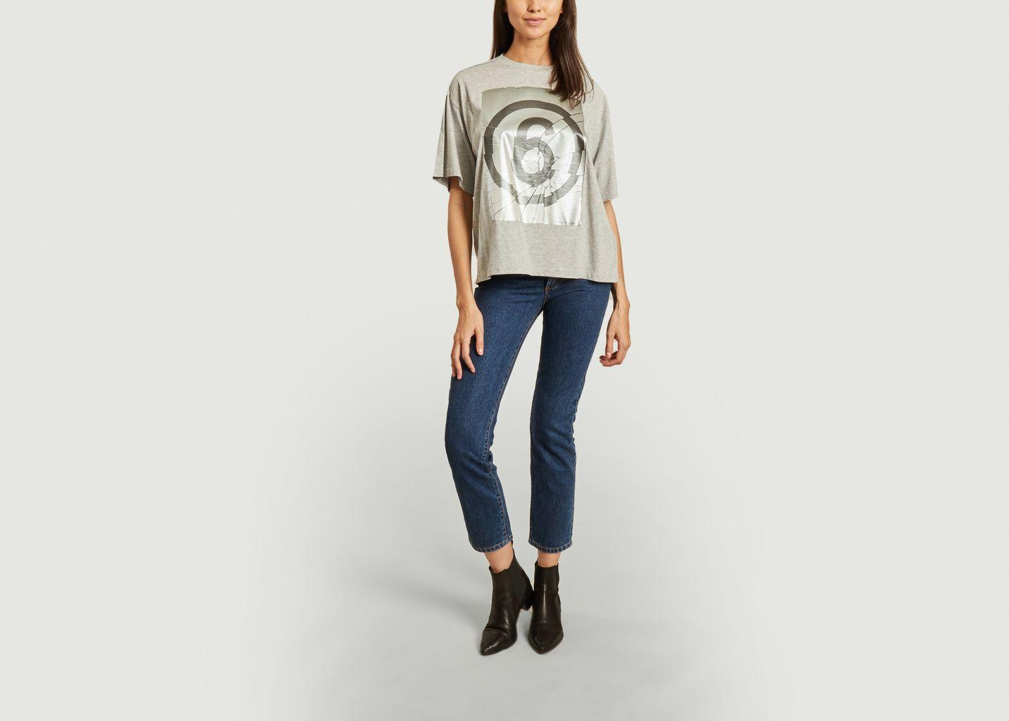 Tee-shirt col rond sérigraphié  - MM6 Maison Margiela