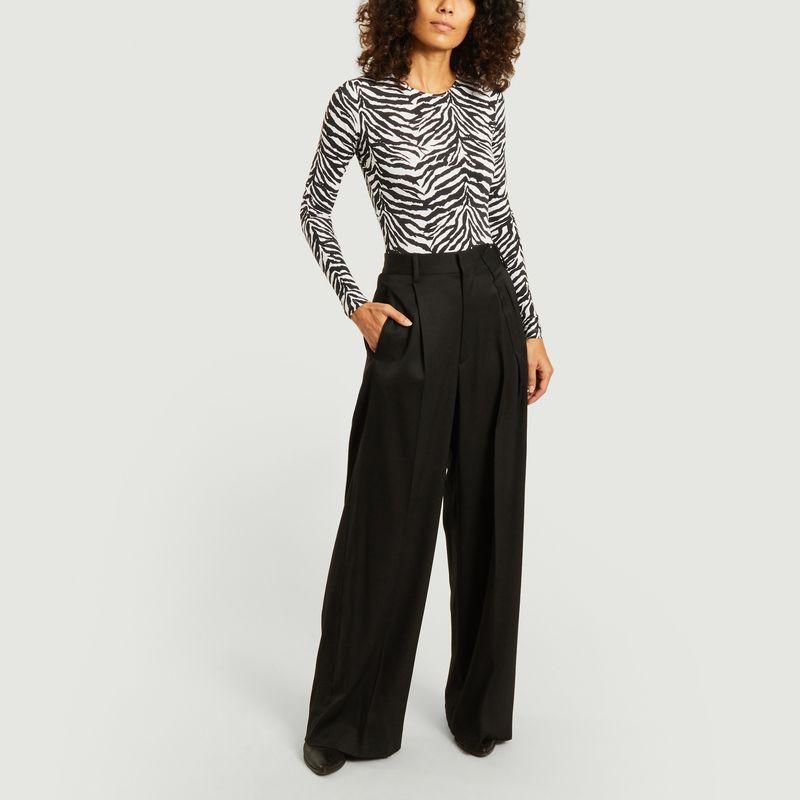 Pantalon large taille haute - MM6 Maison Margiela