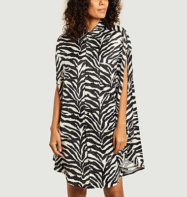 MM6 | The North Face circle zebra print shirt dress