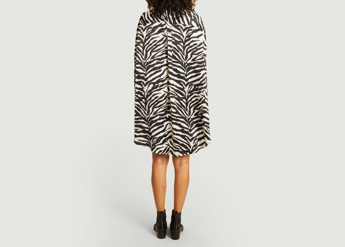 Robe-chemise imprimé zèbre Circle MM6 | The North Face - MM6 Maison Margiela