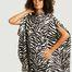 matière Robe-chemise imprimé zèbre Circle MM6 | The North Face - MM6 Maison Margiela
