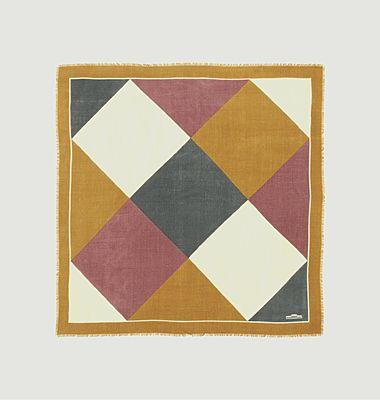 Foulard carré en laine motif géométrique Nº531