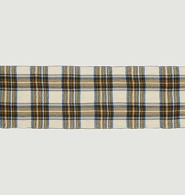 Echarpe en laine à carreaux Nº550