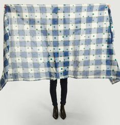 N°426 Check And Dots Pattern Scarf