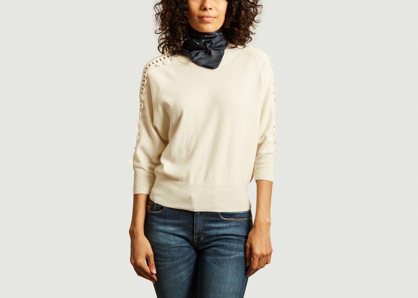 Foulard carré en soie motif bouches N°435 - Moismont