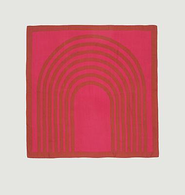 Foulard carré en soie motif géométrique N°439