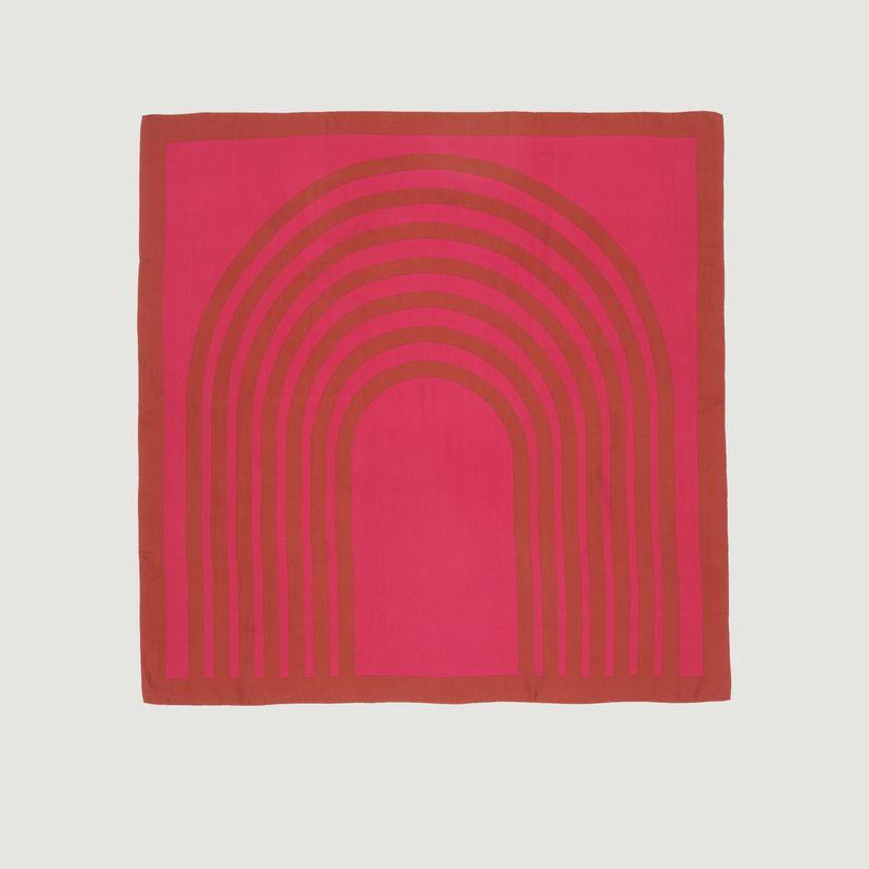 Foulard carré en soie motif géométrique N°439 - Moismont