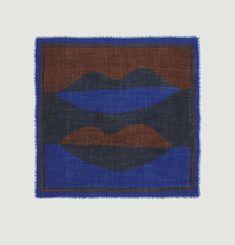 Foulard carré en laine imprimé N°445