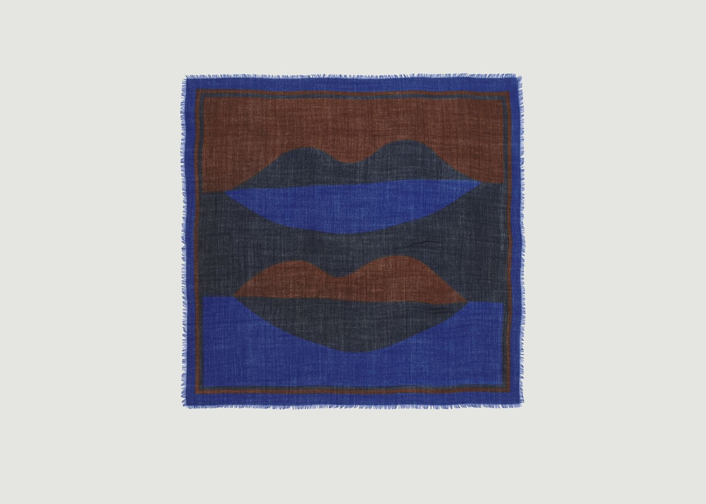 Foulard carré en laine imprimé N°445 - Moismont