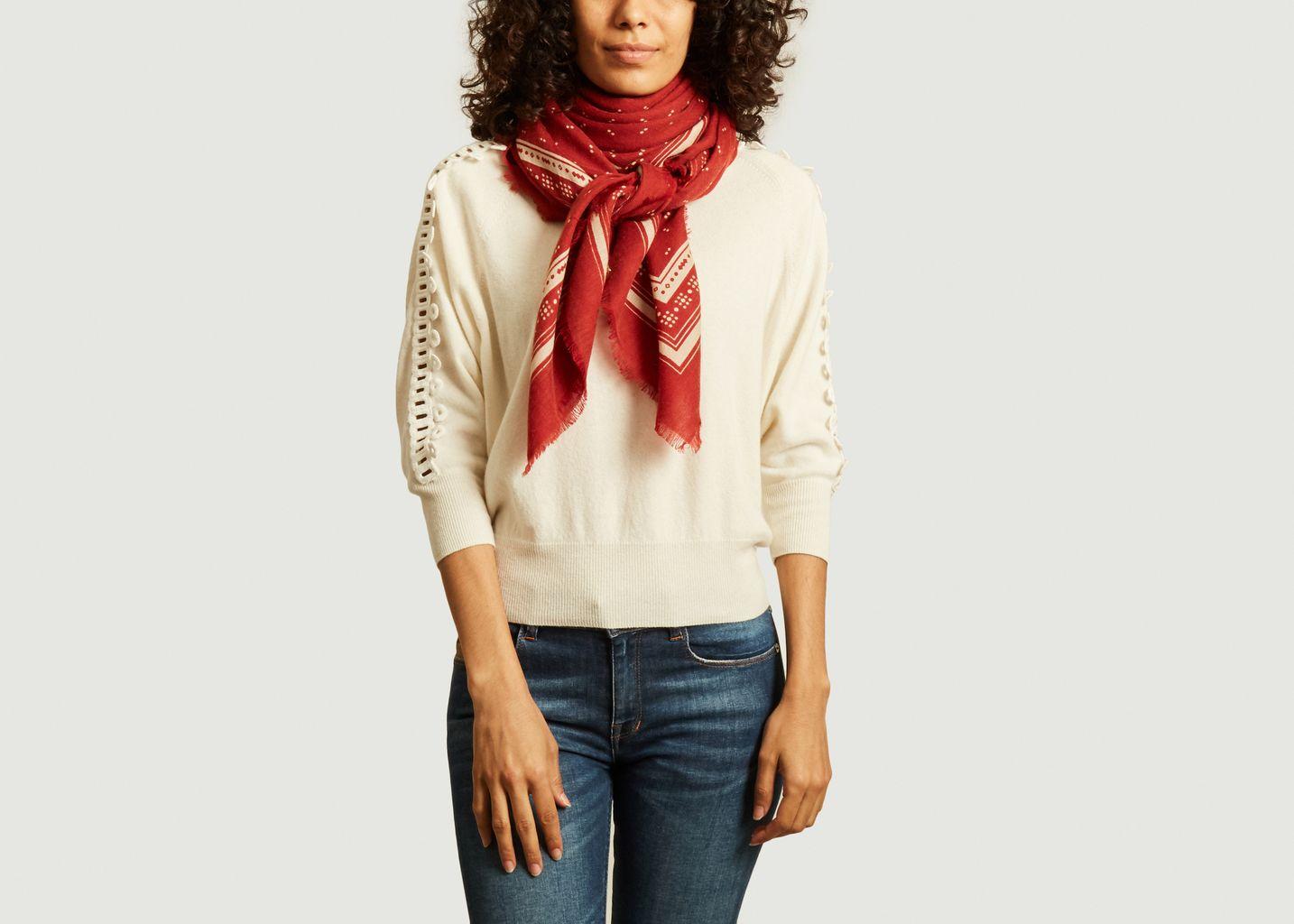 Foulard carré en laine et cachemire N°449 - Moismont