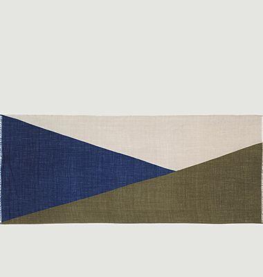 N°450 geometric pattern wool scarf