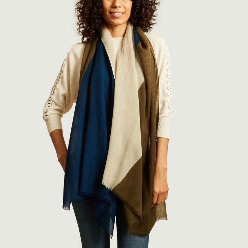 Echarpe en laine motif géométrique N°450 - Moismont