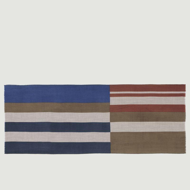 Echarpe rayée en laine N°451 - Moismont