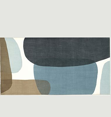 Echarpe en laine motif géométrique N°456
