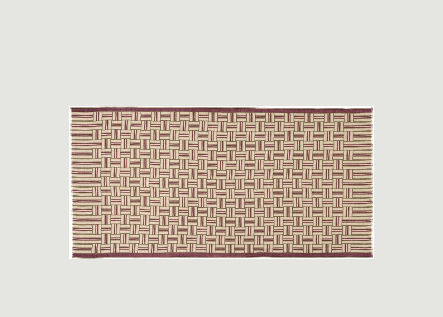 Echarpe en laine motif géométrique N°460 - Moismont