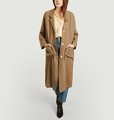 Manteau lin Courmayer