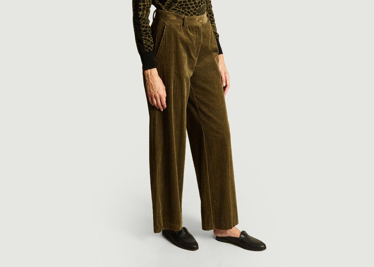 Pantalon Large Furetto Velours  - Momoni