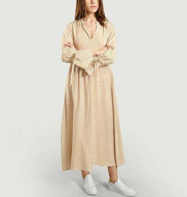 Robe Longue Rayée Brecena