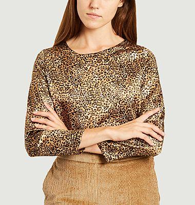 Bombolone leopard print silk top