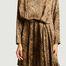 matière Robe en soie imprimé léopard Benu - Momoni