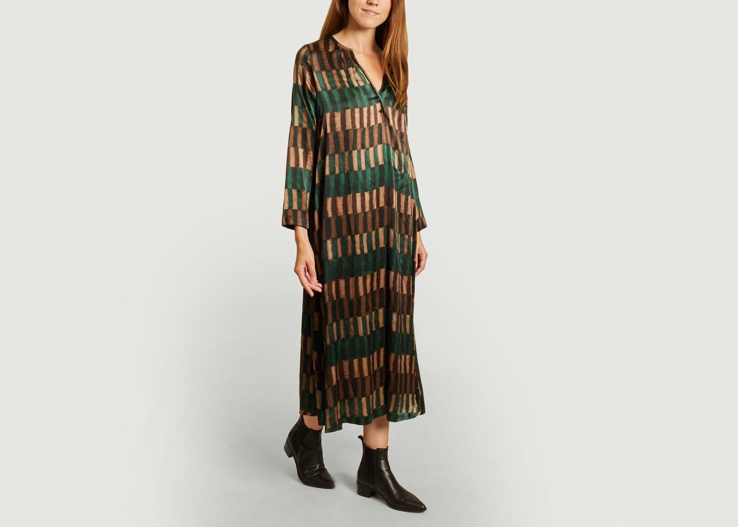 Robe en soie à motif géométrique Cicinizza Bis - Momoni