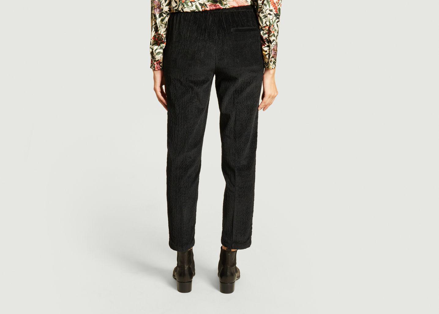 Pantalon droit 7/8e en velours côtelé Haiti - Momoni