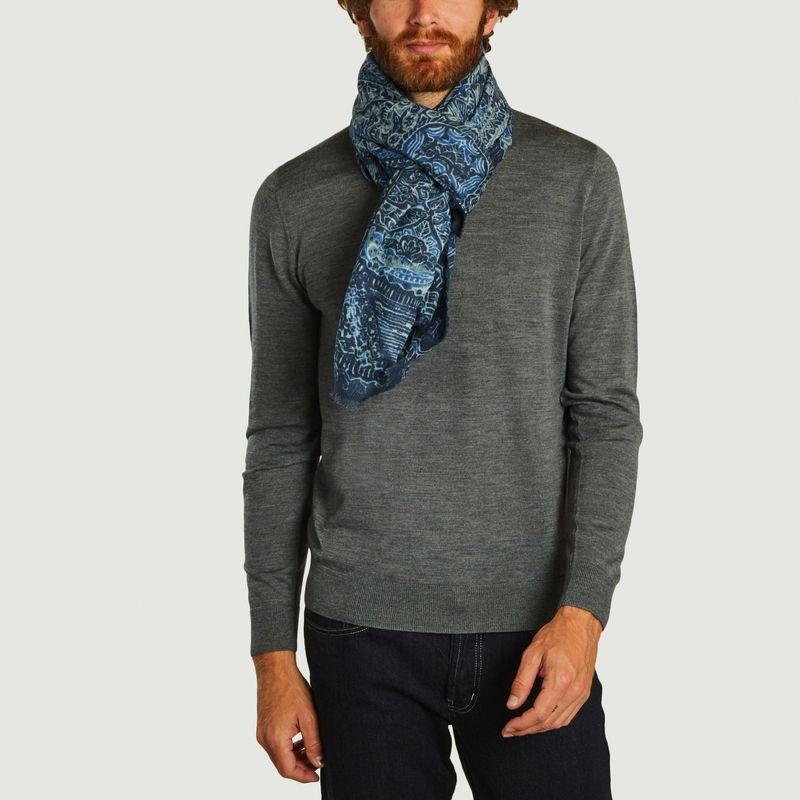 Foulard en laine et modal motif fantaisie Sacha - Monsieur Charli