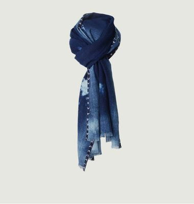 Foulard Tie And Dye Denim