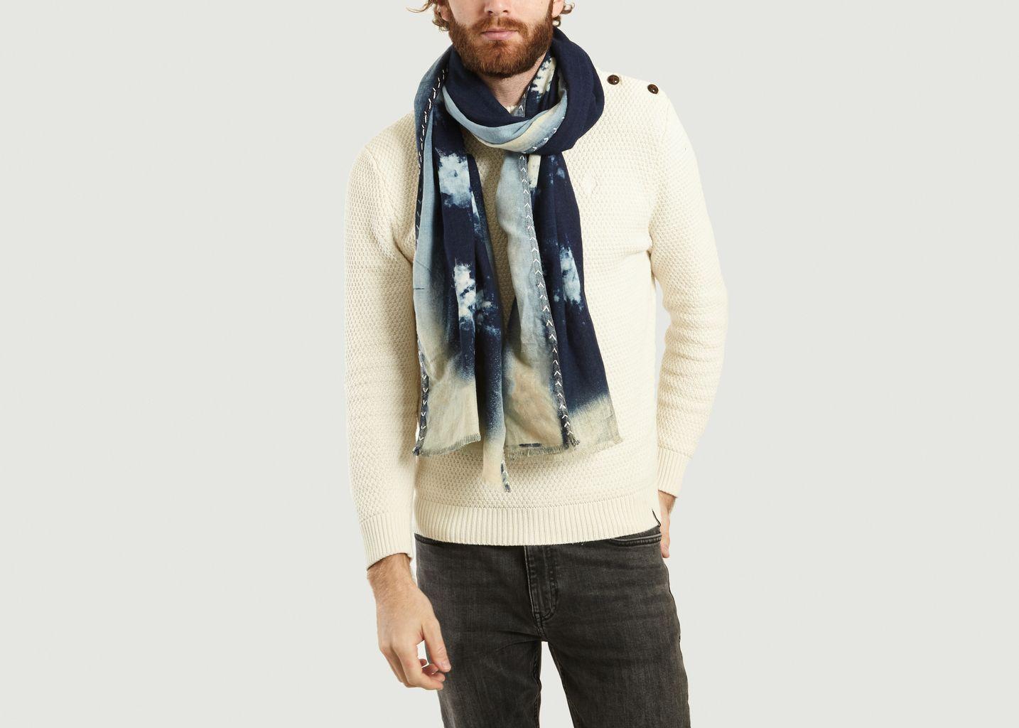 Foulard Tie And Dye Denim - Monsieur Charli