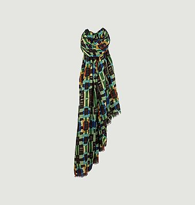 Foulard David multicolore