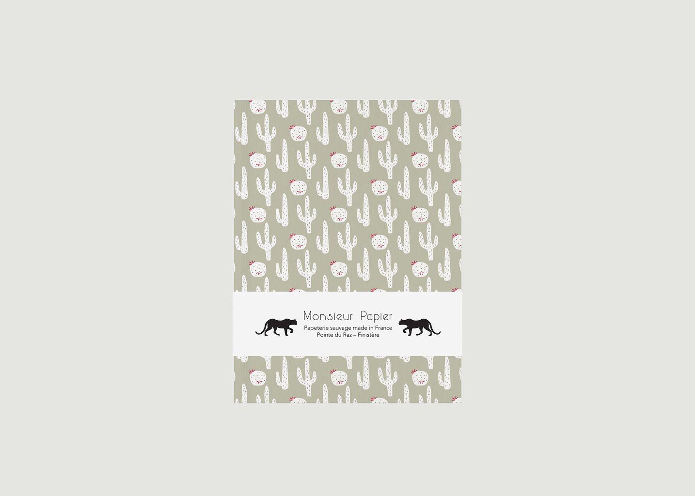 Petit Carnet Cactus A6 Pages Blanches - Monsieur Papier