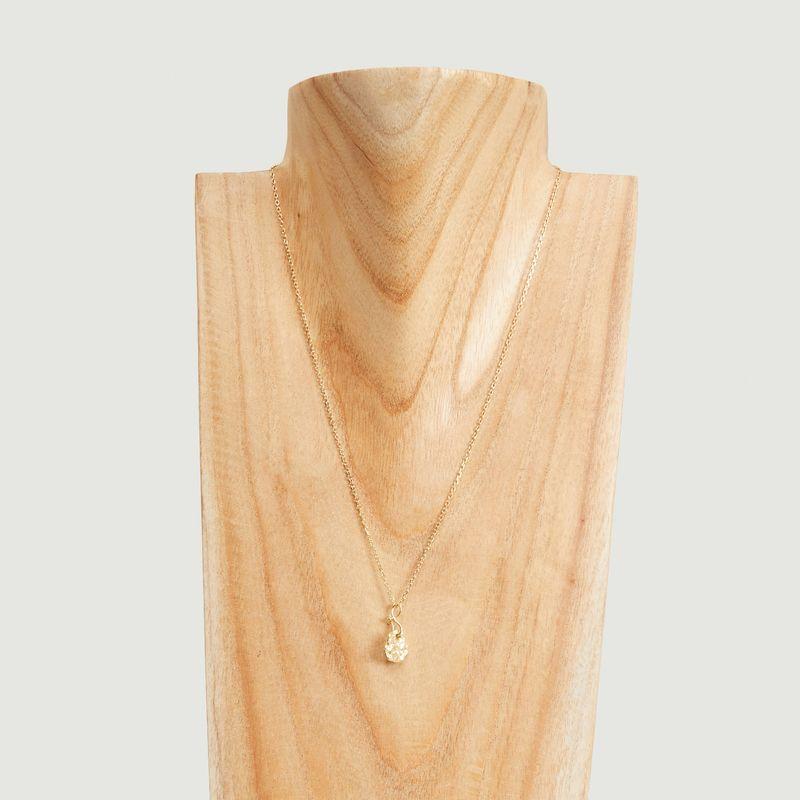 Collier chaîne avec pendentif en vermeil jaune Ina - Monsieur
