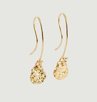 Boucles d'oreilles pendantes en vermeil jaune Ina