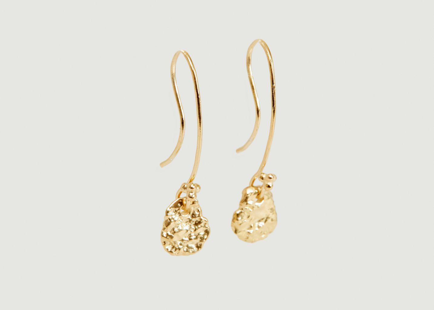 Boucles d'oreilles pendantes en vermeil jaune Ina - Monsieur