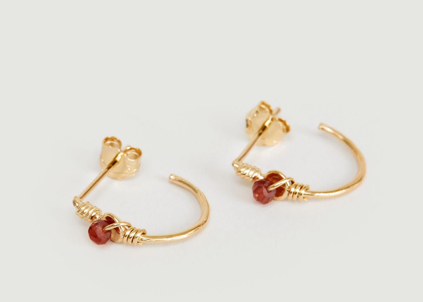 Boucles d'oreilles créoles vermeil jaune et perle Tia - Monsieur