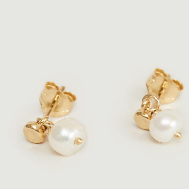 Boucles d'oreilles puces vermeil jaune et perle Tia - Monsieur