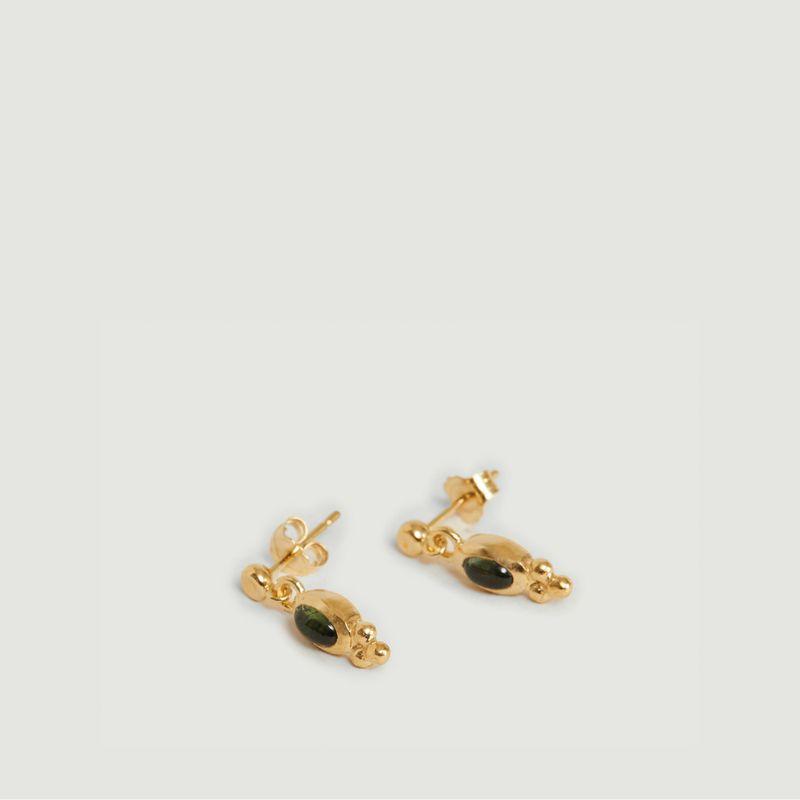 Boucles d'oreilles Lila tourmaline verte - Monsieur