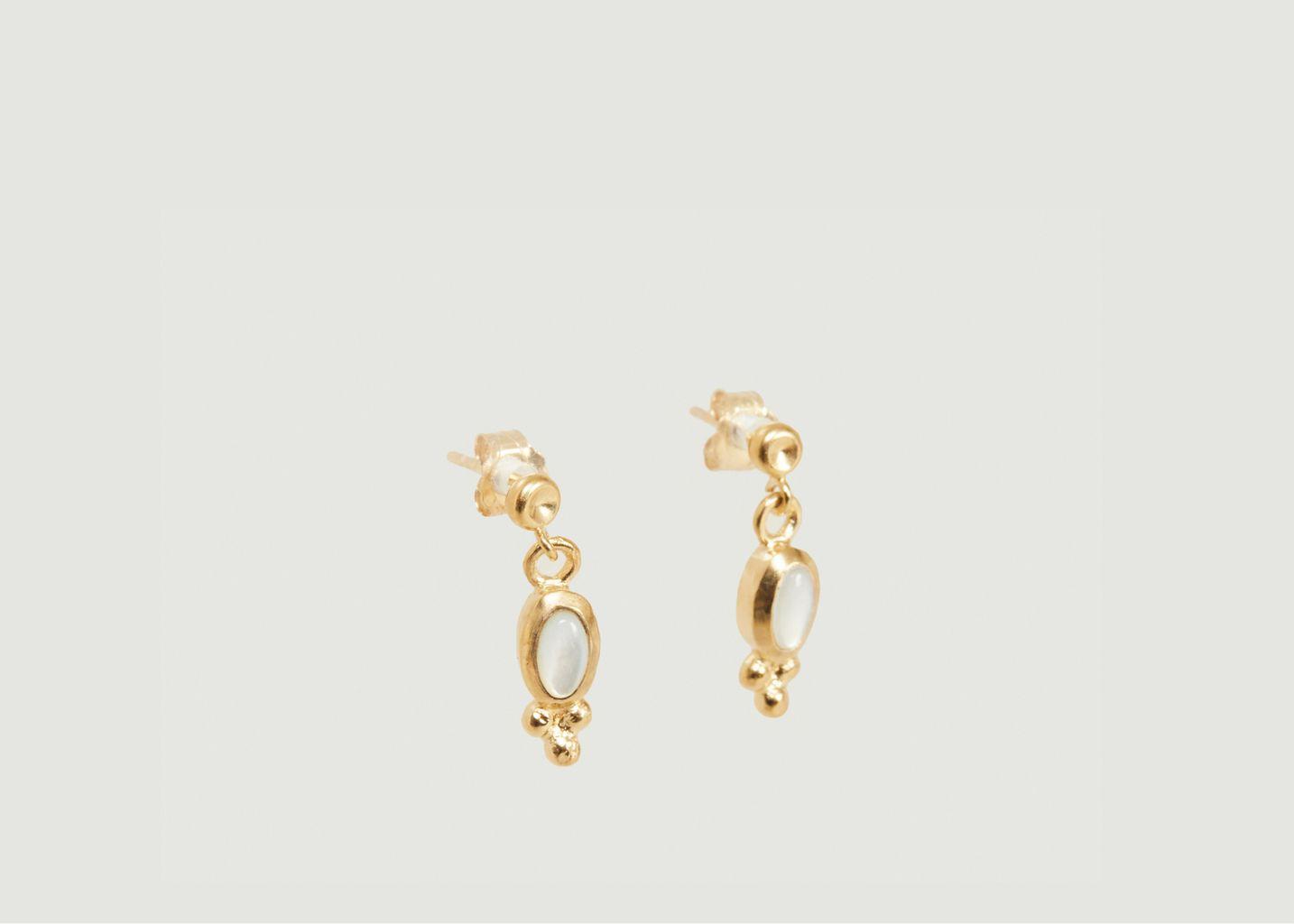Boucles d'oreilles Lila nacre - Monsieur