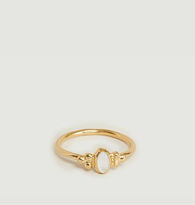 Lila mother-of-pearl ring