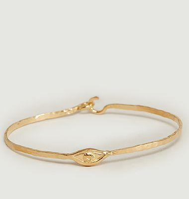 Izza eye pattern yellow vermeil bangle bracelet