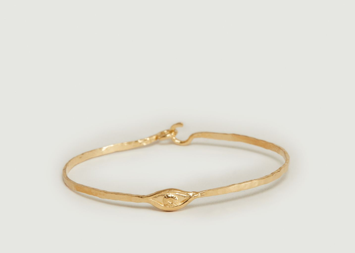 Bracelet jonc en vermeil jaune motif œil Izza - Monsieur