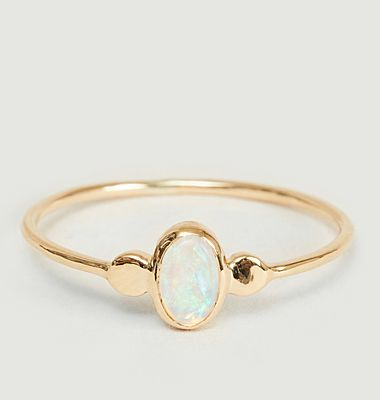 Lila gold and opal ring