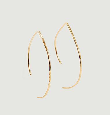 Boucles d'oreilles pendantes crochet en or 18k