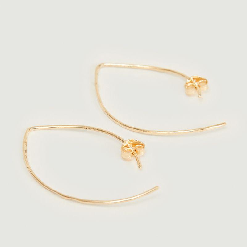 Boucles d'oreilles pendantes crochet en or 18k - Monsieur