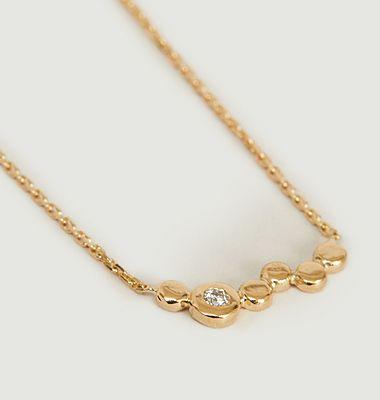 Collier chaîne or jaune et diamant Ira