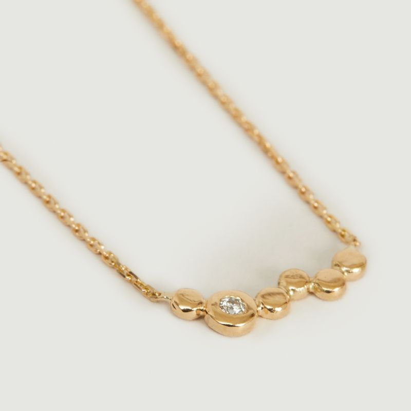 Collier chaîne or jaune et diamant Ira - Monsieur