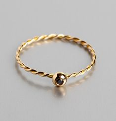 Black Diamond Jeanne Ring